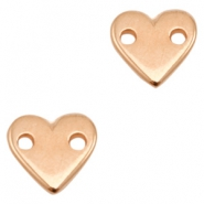 DQ metal charms connector heart Rose Gold (Nickel Free)