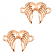 DQ metal charms connector angel wings Rose Gold (Nickel Free)