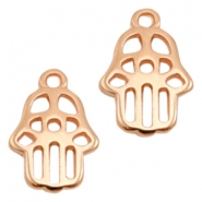 DQ metal charms Hamsa hand Rose Gold (Nickel Free)