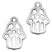 DQ metal charms Hamsa hand Antique Silver (Nickel Free)
