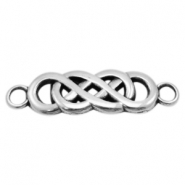 DQ metal charms connector infinity Antique Silver (Nickel Free)