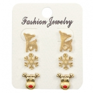 Trendy Earrings X-mas Gold
