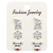 Trendy Earrings X-mas Silver