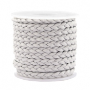 Trendy flat cord braided silk style 5mm Light Grey