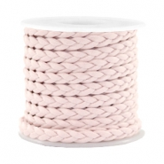 Trendy flat cord braided silk style 5mm Velvet Rose