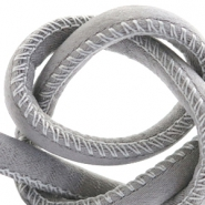 Trendy stitched cord silk style 4x3mm Grey