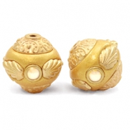 Bohemian beads 14mm Golden Coast Yellow-Gold