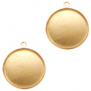 Settings charm metal for cabochon 20 mm Gold