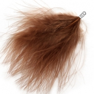 Feathers plush Golden Beige Brown