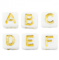 Acrylic letter beads
