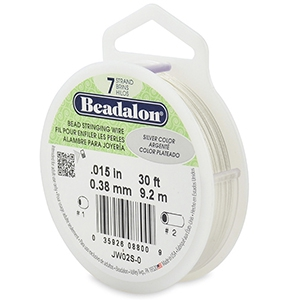 Beadalon stringing wire 7 strand 0.38mm Silver