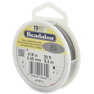 Beadalon stringing wire 19 strand 0.46mm Bright Stainless Steel