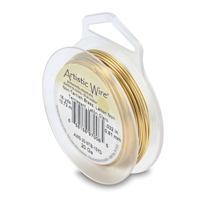 20 Gauge Artistic Wire Tarnish Resistant Brass