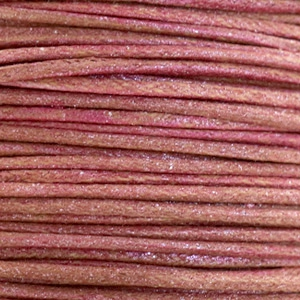 Waxed cord metallic 1.0mm Mahogany Red