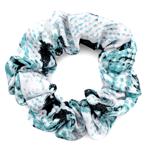 Scrunchie snake print hair tie Turquoise