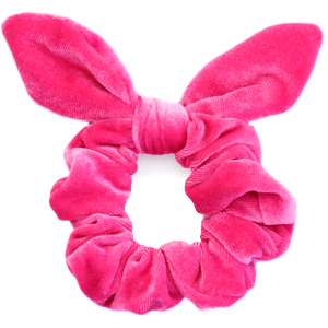 Scrunchie velvet hair tie bow Carmine Rose