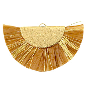 Tassels charm Gold-Golden Brown