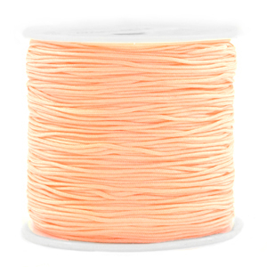 Macramé bead cord 0.8mm Peach Orange