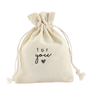 "Jewellery Linen Bag ""for you"" Off White"