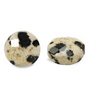 Natural stone beads faceted round 5mm Greige