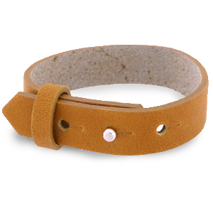 Cuoio bracelet leather 15 mm for 20 mm cabochon Copper Brown
