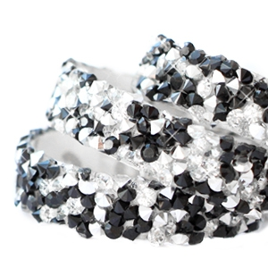 Tape 10 mm crystal diamond tape 10 mm Black-Silver