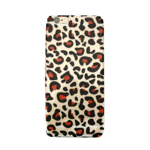 Telephonecase panther for Iphone 6 Plus Transparent - black red