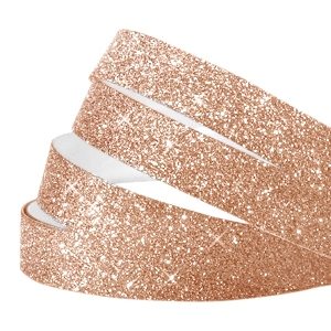 Crystal glitter tape 5mm Champagne rose