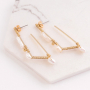 Create minimalist jewellery with freshwater pearls and gold coloured earring findings