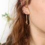 Stylish earrings in the latest trend colours