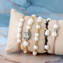 Bracelets with the latest collection of freshwater pearls