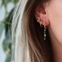 How to make beautiful earrings with the zirconia earring findings: