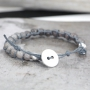 Super trendy bracelets in Shamballa Style with knotted wax cord!