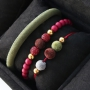 Velvet jewellery with a luxurious look made of velvet cord and velvet pompom beads