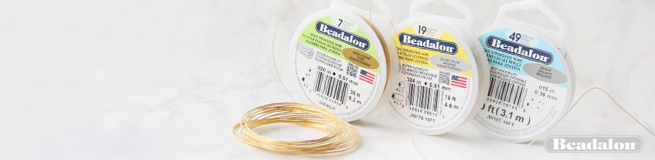 Beadalon stringing wire (various)