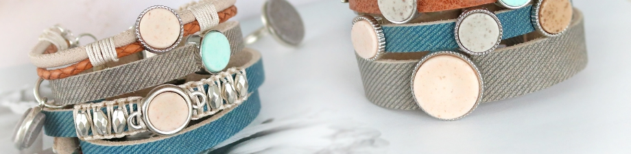 New Cuoio bracelets and Polaris Elements cabochons