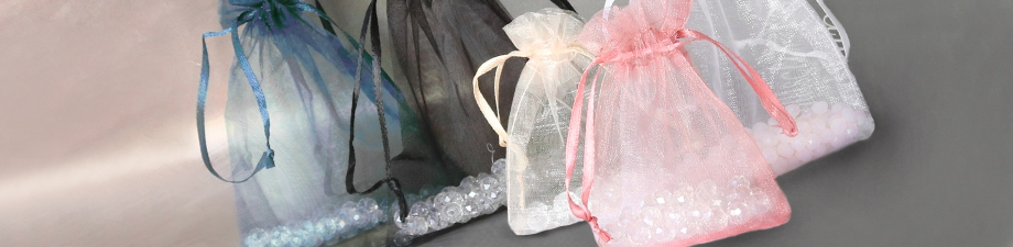 Organza jewellery bags in trendy colours and new sizes