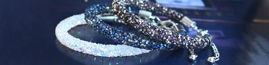 Party in style: Crystal diamond bracelets