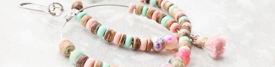 New: coconut beads for a tropical look   ☼