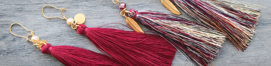 Tassels in 3 sizes and new colours!