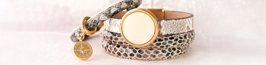 NEW: faux snake print leather!