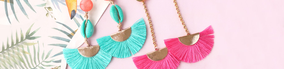 New! Colourful tassel charms