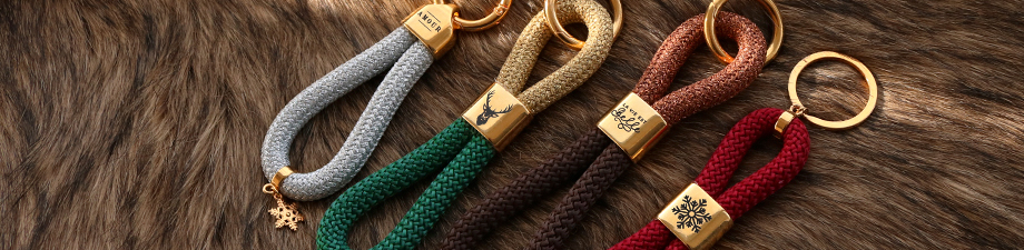 Mix & Match DQ European keychains with maritime cord